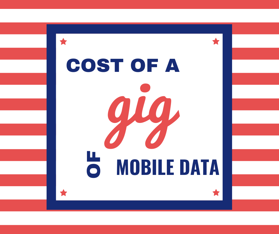 Cost of a gig of mobile data