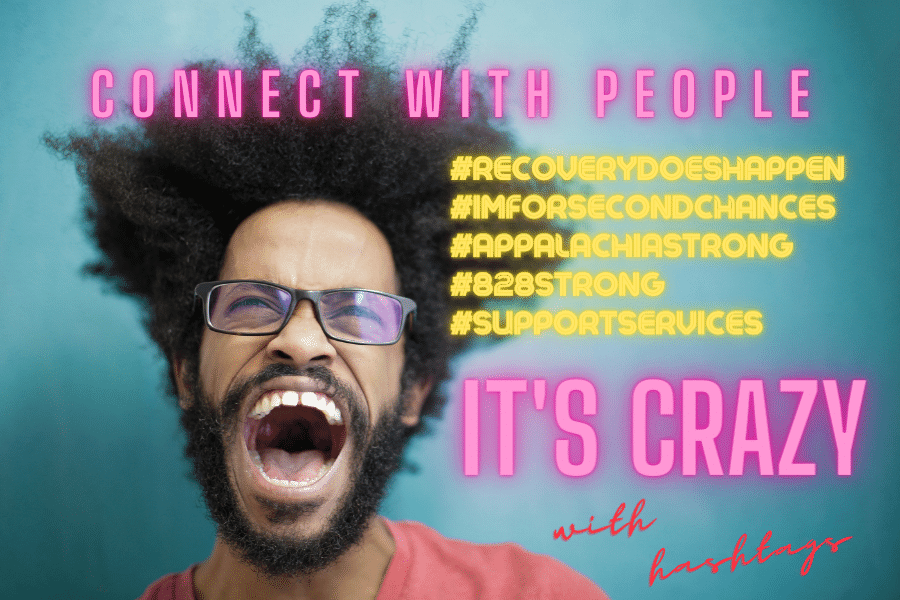 Connect with people with hashtags