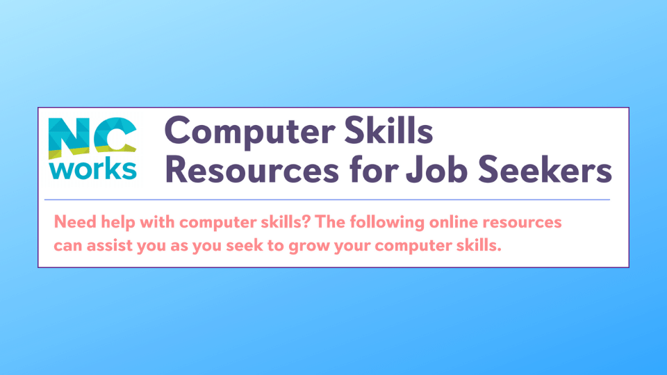 Computer skills job seeker resources