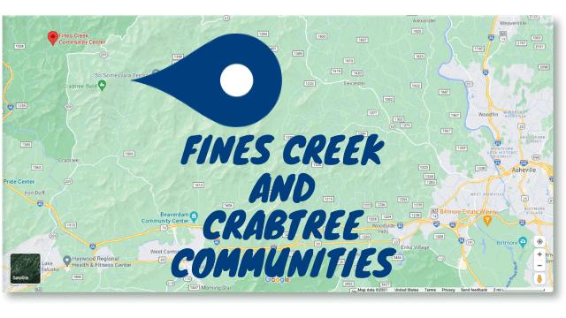 Fines Creek and Crabtree communities