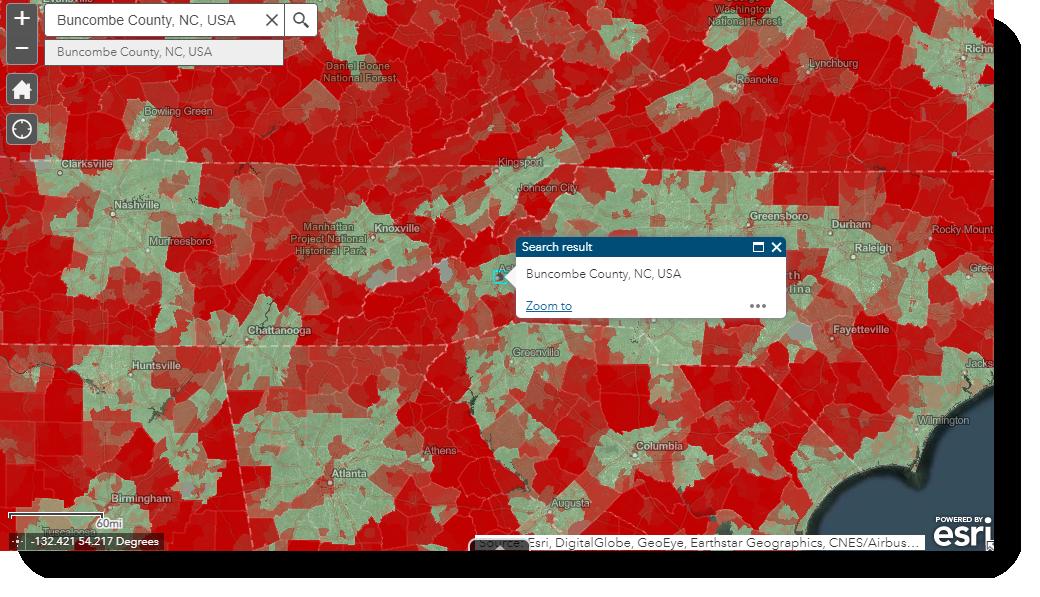 Indicators of Broadband Need in WNC - Buncombe County, NC