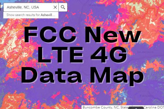 FCC 4g LTE Wireless Data Map